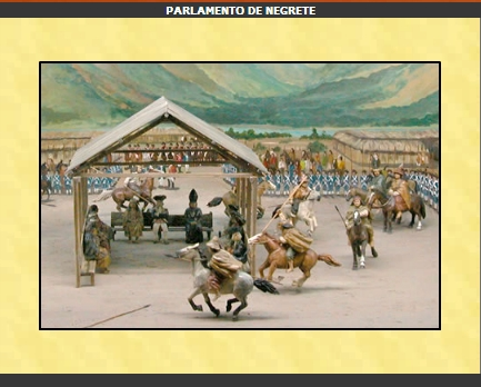 Haga clic aquí para redireccionar e ir a ver un diorama del Parlamento de Negrete de 1793